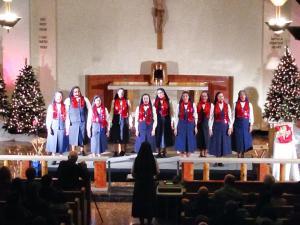 Christmas Concert from the Choir Loft! (taken by novice Sr. Chelsea)