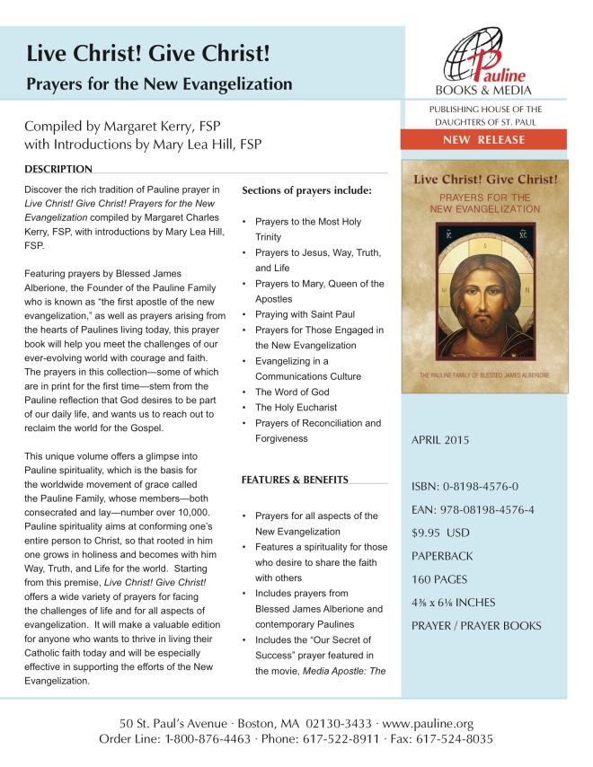Tip Sheet- Live Christ! Give Christ!