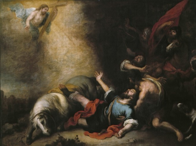 """""""La conversión de san Pablo (Murillo)"""" by Bartolomé Esteban Murillo - http://www.museodelprado.es/imagen/alta_resolucion/P00984.jpg. Licensed under Public Domain via Wikimedia Commons"""